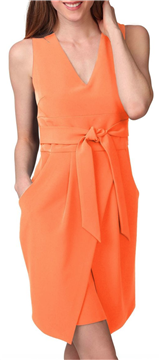 Donna Morgan - Tulip Hem Sleeveless Crepe Dress