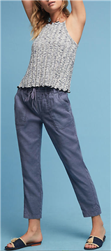 Level 99 - Linen Side-Slit Pants