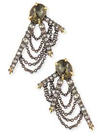 Alexis Bittar - Draped Crystal Fringe Post Earrings