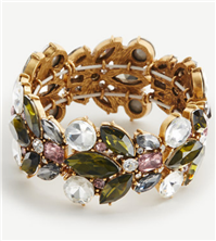 Ann Taylor - Crystal Burst Stretch Bracelet