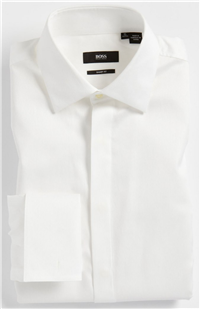 BOSS Hugo Boss - Marlyn Sharp Fit Stripe French Cuff Tuxedo Shirt