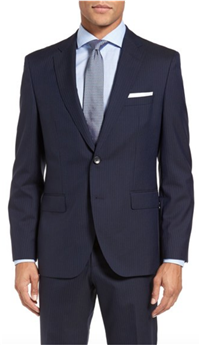 BOSS Hugo Boss - Johnstons/Lenon Trim Fit Stripe Wool Suit
