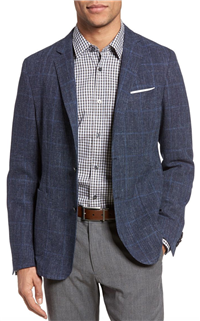 BOSS Hugo Boss - Nold Trim Fit Windowpane Wool Blend Sport Coat