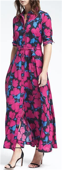 Banana Republic - Floral Maxi Shirt Dress