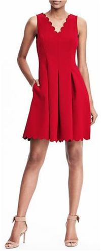 Banana Republic - Scalloped Pocket Dress