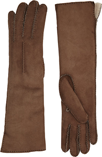 Barneys New York - Shearling-Lined Long Gloves
