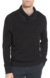 Billy Reid - Shawl Collar Cotton Sweater