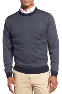 Bobby Jones - Bird's Eye Merino Wool Sweater