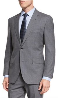 BOSS Hugo Boss - Johnstons Lennon Melange Plaid Slim-Fit Basic Suit