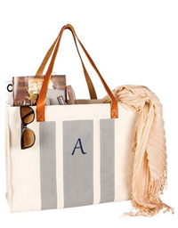Cathy's Concepts - Monogram Canvas Tote