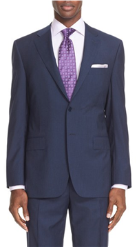 Canali - 13000 Classic Fit Stripe Wool Suit
