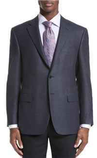 Canali - Classic Fit Houndstooth Wool Sport Coat