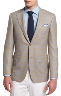 Canali - Houndstooth-Windowpane Two-Button Sport Coat