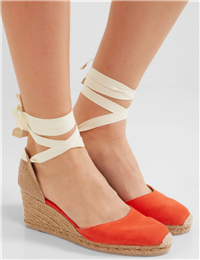 Castaner - Washed Canvas Wedge Espadrilles