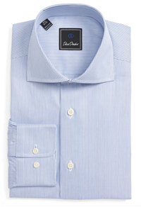 David Donahue - Regular Fit Stripe Dress Shirt