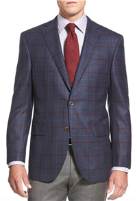 David Donahue - Connor Classic Fit Check Wool Sport Coat