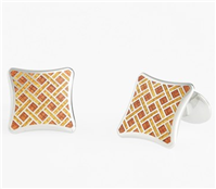David Donahue - Enamel & Sterling Silver Cuff Links
