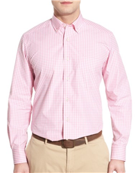 David Donahue - Regular Fit Gingham Sport Shirt