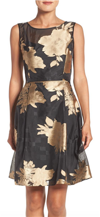 Ellen Tracy - Burnout Floral Fit & Flare Dress