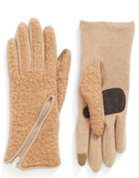 Echo - Touch Zip Bouclé Tech Gloves