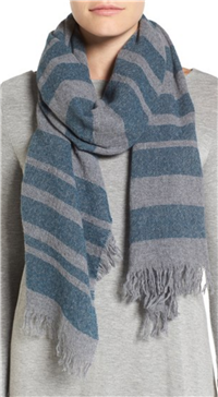 Eileen Fisher - Stripe Cashmere & Wool Scarf