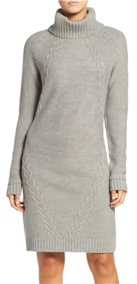 Eliza J - Cable Knit Sweater Dress
