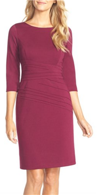 Ellen Tracy - Seamed Ponte Sheath Dress