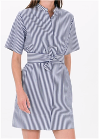Everlane - The Cotton Collarless Belted Shirt Dress