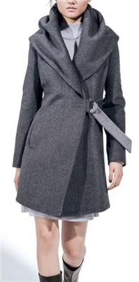 French Connection - Wool Blend Wrap Coat