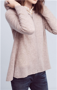 Hwr - Cashmere Zip-Front Cardigan