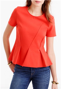 J. Crew - Asymmetrical Pleated Top
