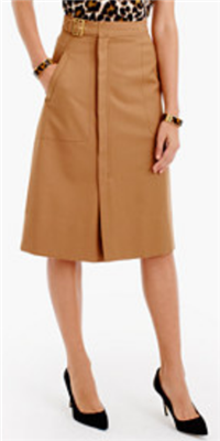 J.Crew - Belted A-line Skirt