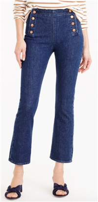 J. Crew - Billie Demi-boot Crop Sailor Jean