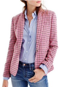 J.Crew - Campbell Pink Houndstooth Blazer
