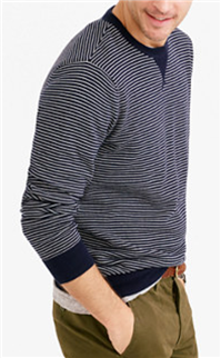 J.Crew - Striped Cotton Sweatshirt Sweater