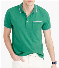 J. Crew - Textured Cotton Tipped Polo Shirt