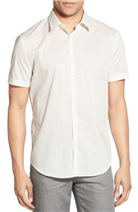 John Varvatos Star USA - Trim Fit Print Short Sleeve Sport Shirt