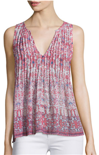 Joie - Axton Pleated-Front Printed Silk Top