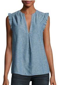Joie - Blaine Sleeveless Chambray Top
