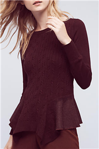 Knitted & Knotted - Audrey Peplum Pullover