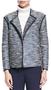 Lafayette 148 New York - Dane Collarless Asymmetric Woven Jacket