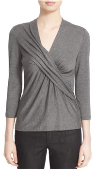 Lafayette 138 New York - Pleat Wrap Front Top