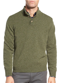 Ledbury - The Brewer Mock Neck Merino Wool Sweater