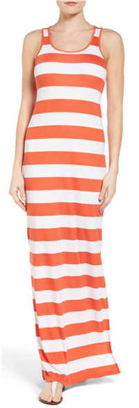 MICHAEL MICHAEL KORS - Rugby Stripe Tank Maxi Dress