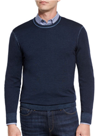 Michael Kors - Washed Merino Crewneck Sweater