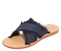 Mystique - Crisscross Denim Slides