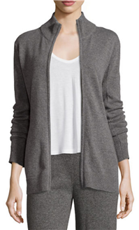 Neiman Marcus Collection - Cashmere Zip-Front Jacket