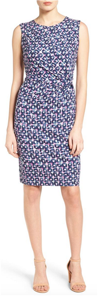 Nic+Zoe - Groundwork Twist Print Sheath Dress