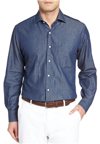 Peter Millar - Crown Cool Denim Sport Shirt