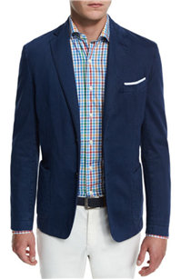 Peter Millar - Glacier Skyline Soft Cotton-Blend Sport Coat